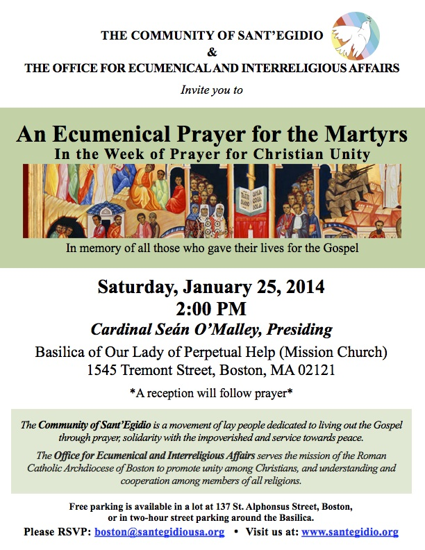 Prayer for Martyrs